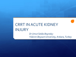 AKI and CVVH - Pediatric Continuous Renal Replacement Therapy