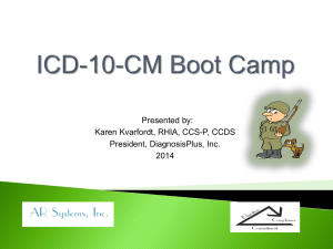 An overview of injury codes in ICD-10-CM