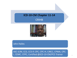 ICD-10-CM Chapter 11-14