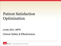 Linda Shin, MPH Clinical Safety & Effectiveness