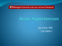 Acute Hypertension