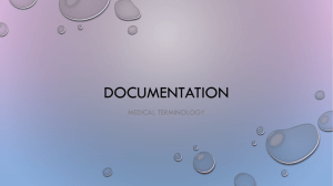Documentation SOAP notes