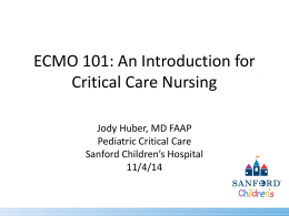 Fall Workshop presentation - ECMO