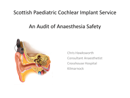 Scottish Paediatric Cochlear Implant Service and