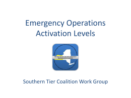 Emergency Operations Plain Language Activation Levels