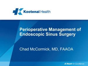 Perioperative Management of Endoscopic Sinus Surgery