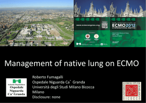 Management of native lung in ECMO