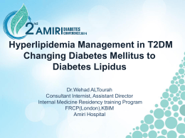 - 2nd Amiri Diabetes Conference 2014