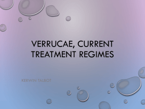 Verrucae, current treatment regimes