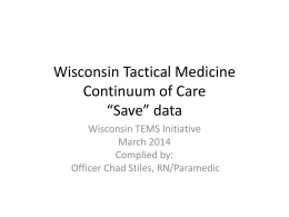 Continuum of Care Save Data, 2014 TEMS Summit PowerPoint