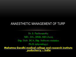 Size: 1 MB - TURP - anaesthetic concerns