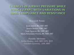 EzPap at different I:E ratios and how they affect hemodynamics