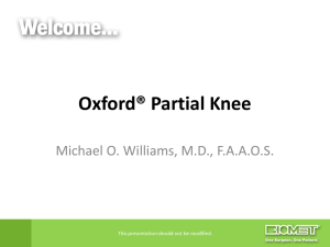 Oxford® Partial Knee