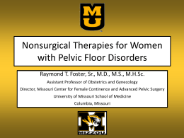 Nonsurgical Therapies for Women with Pelvic Floor Disorders