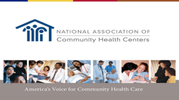 The Environment for Health Centers Federal Policy Update