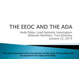EEOC Enforcement of the ADA
