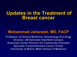 Breast Cancer - Oklahoma Society of Clinical Oncology