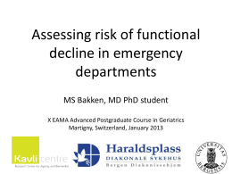Assessing risk of functional decline in emergency