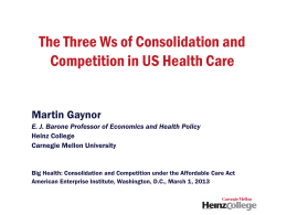 National Health Policy Forum - American Enterprise Institute