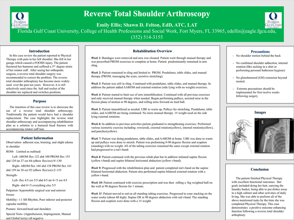 Reverse Total Shoulder Arthroscopy