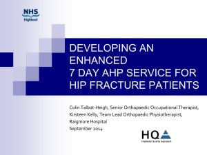Developing a 7 day AHP Service - NHS Highland