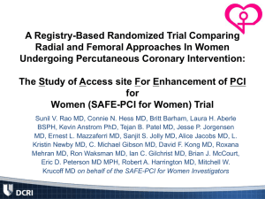 SAFE-PCI for Women - Clinical Trial Results