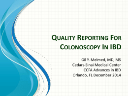 """What determines """"quality"""" for endoscopy reporting in IBD patients?"""