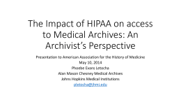 American Association for the History of Medicine 2014 slides