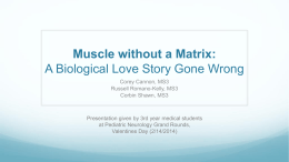 Muscle without a Matrix: A Biological Love Story Gone Wrong