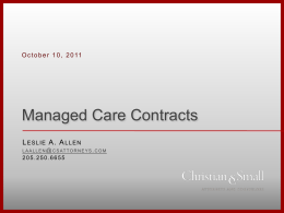 PPT - Managed Care Contracts