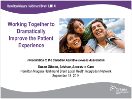 LHINs - Canadian Assistive Devices Association