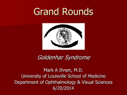 Goldenhar Syndrome - University of Louisville Department of