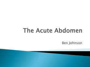The Acute Abdomen - Airedale Gp Training