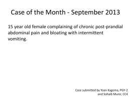 Case of the month September 2013