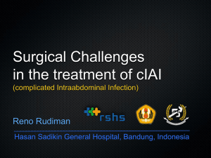 Surgical Challenges in the treatment of cIAI (complicated