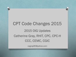 CPT Changes 2015- updated