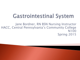 Nursing and the GI System