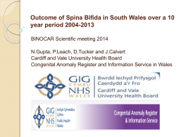 Outcome of Spina Bifida in South Wales over a 10 year
