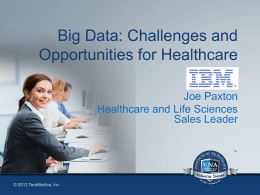 Healthcare and Life Sciences Sales Leader