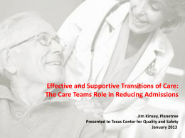 Effective and Supportive Transitions of Care