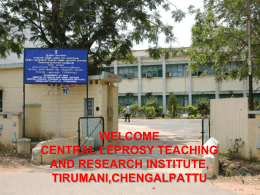 About CLTRI - Central Leprosy Teaching & Research Institute