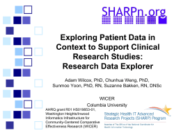 Exploring Patient Data in Context to Support Clinical Research Studies