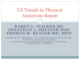 US Trends in Thoracic Aneurysm Repair