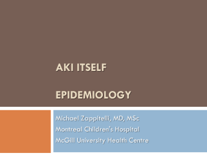 AKI itself Epidemiology