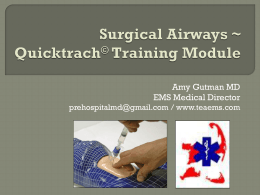 Surgical Airways