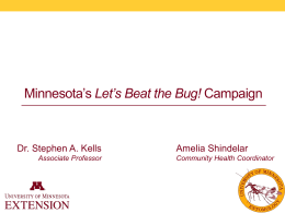 Let*s Beat the Bug! - Alliance for Healthy Homes and Communities