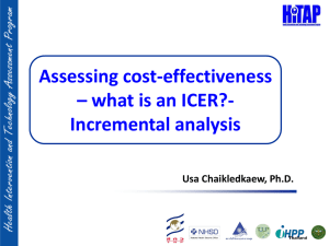 Assessing cost effectivenness