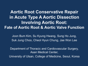 Aortic Root Conservative Repair in Acute Type A Aortic Dissection