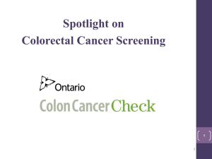 Colorectal Cancer Screening Programs And