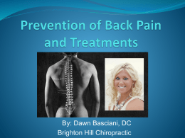 Prevention of Back and Neck Pain